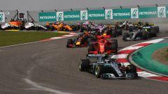 F1 2018 GP Cina, la partenza