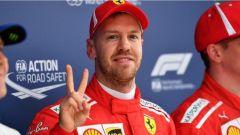 F1 2018 GP Cina, Sebastian Vettel in pole