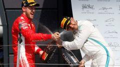 F1 2018, Gran Premio di Gran Bretagna, Vettel e Hamilton sul podio