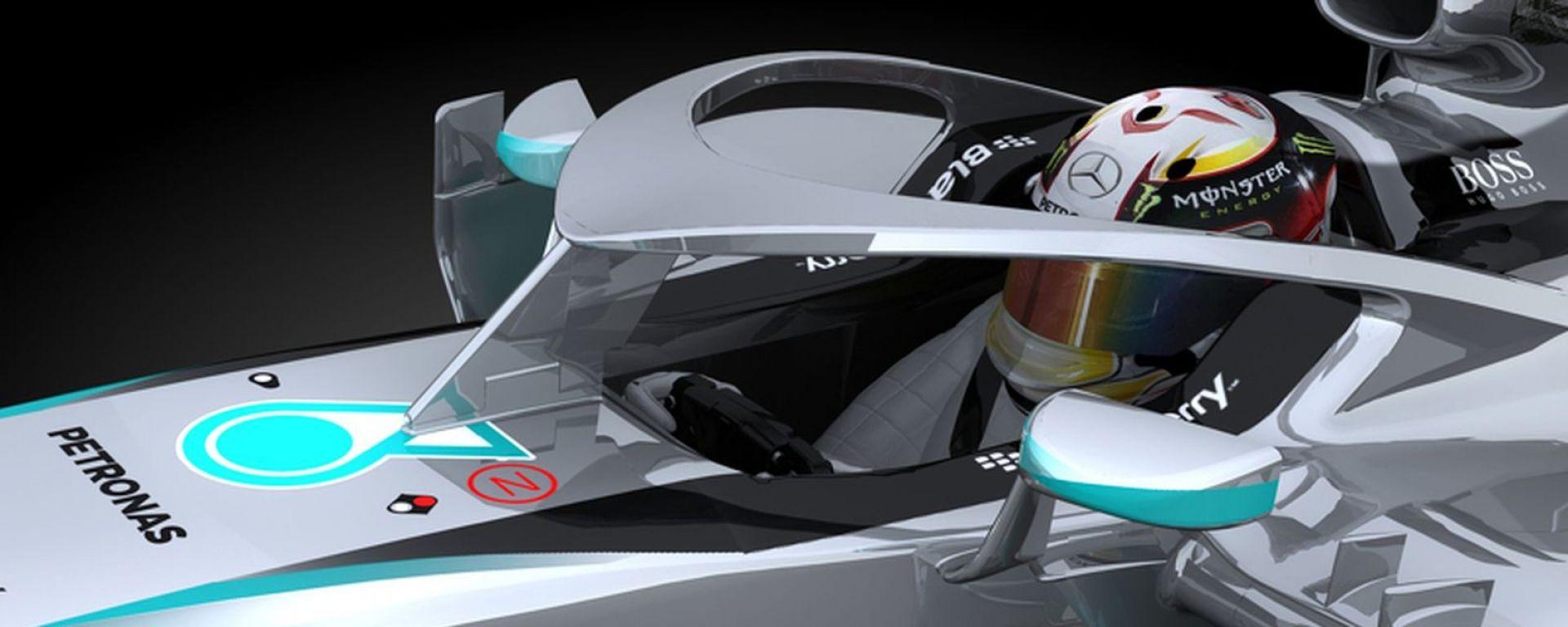 L'Halo della Mercedes può sopportare il peso di un autobus