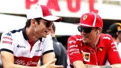 F1 2018, Kimi Raikkonen e Charles Leclerc prima dello scambio di casacche Ferrari e Alfa Romeo