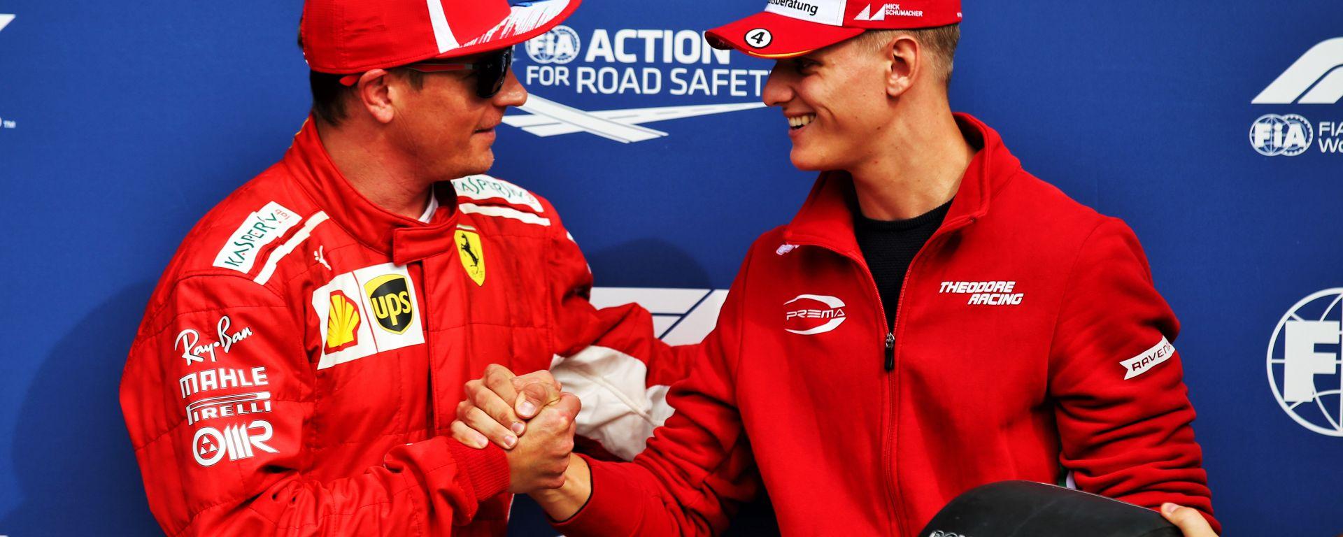 F1 2018: Kimi Raikkonen e Mick Schumacher