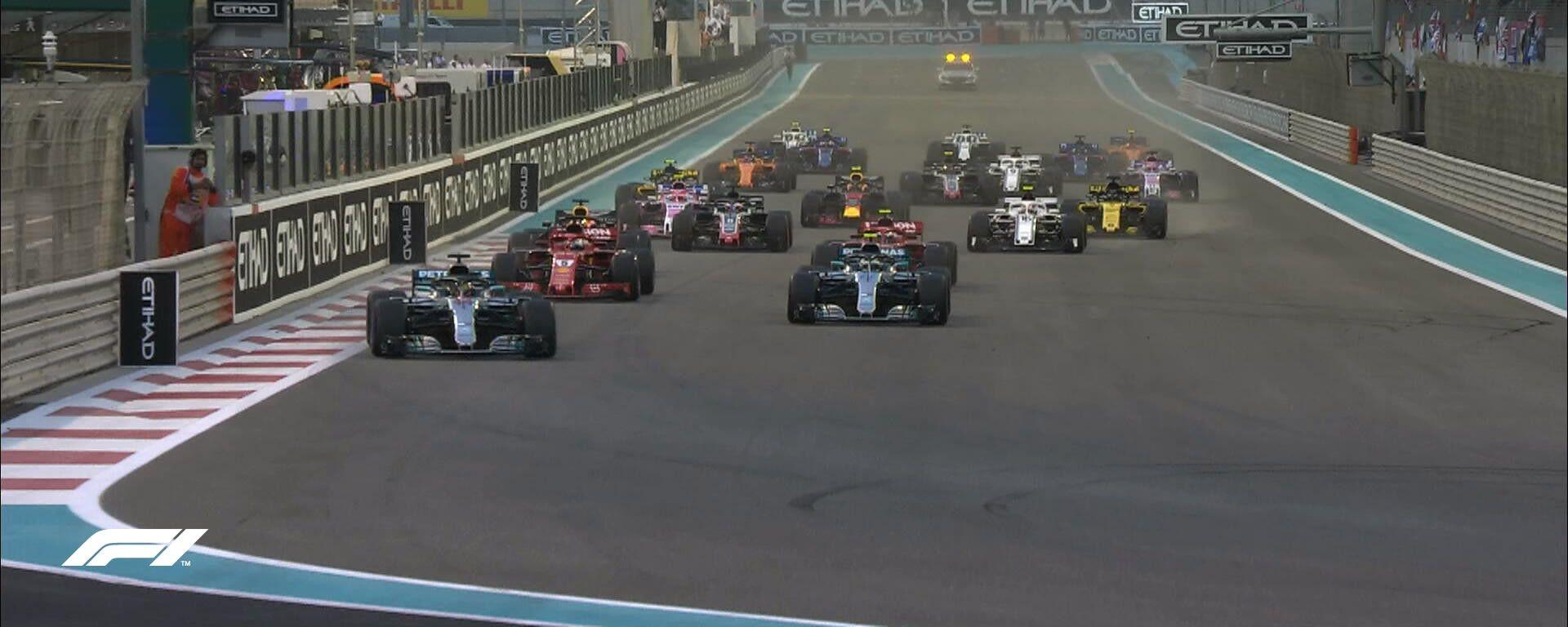F1 2018, la partenza del Gran Premio di Abu Dhabi