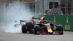 F1 2018: l'incidente tra Daniel Ricciardo e Max Verstappen (Red Bull) a Baku