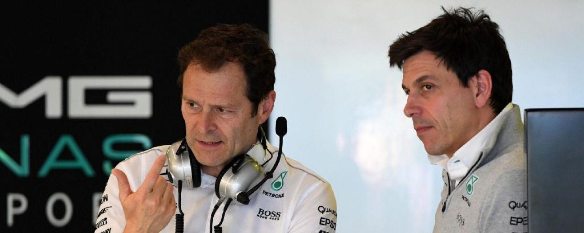 F1 2018, Mercedes, Aldo Costa e Toto Wolff