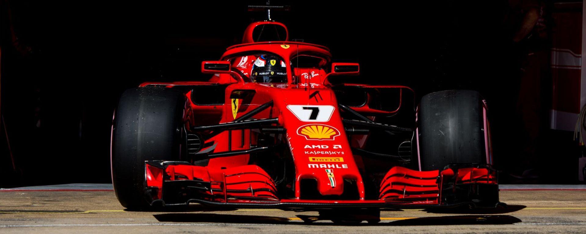 La Ferrari di Raikkonen va proprio forte in quel di Spagna