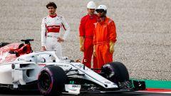 Giovinazzi si ferma con l'Alfa Romeo Sauber, ma oggi tocca alla Ferrari