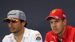 F1 2019: Carlos Sainz (McLaren) e Sebastian Vettel (Ferrari)