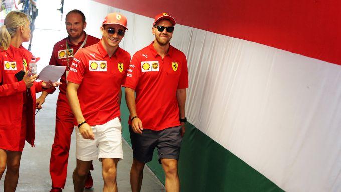 F1 2019, Charles Leclerc e Sebastian Vettel (Ferrari)