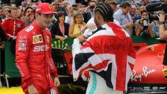 F1 2019: Charles Leclerc (Ferrari) e Lewis Hamilton (Mercedes)