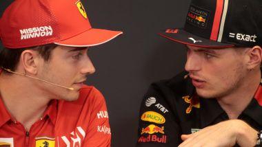F1 2019: Charles Leclerc (Ferrari) e Max Verstappen (Red Bull)