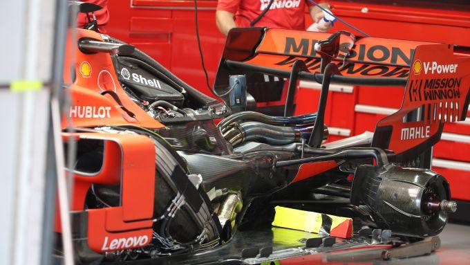 F1 2019: dettaglio zona motore Ferrari