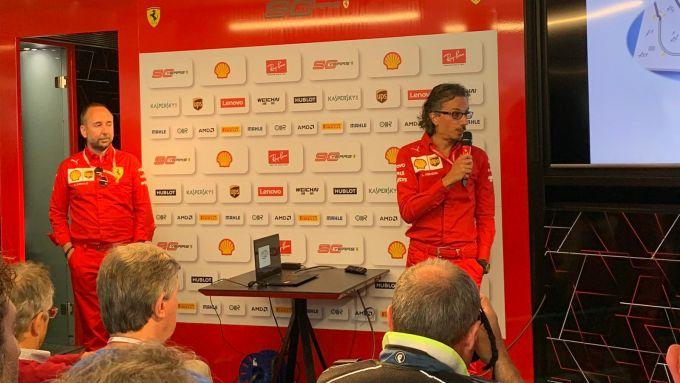 F1 2019, Enrico Cardile e Laurent Mekies (Ferrari)