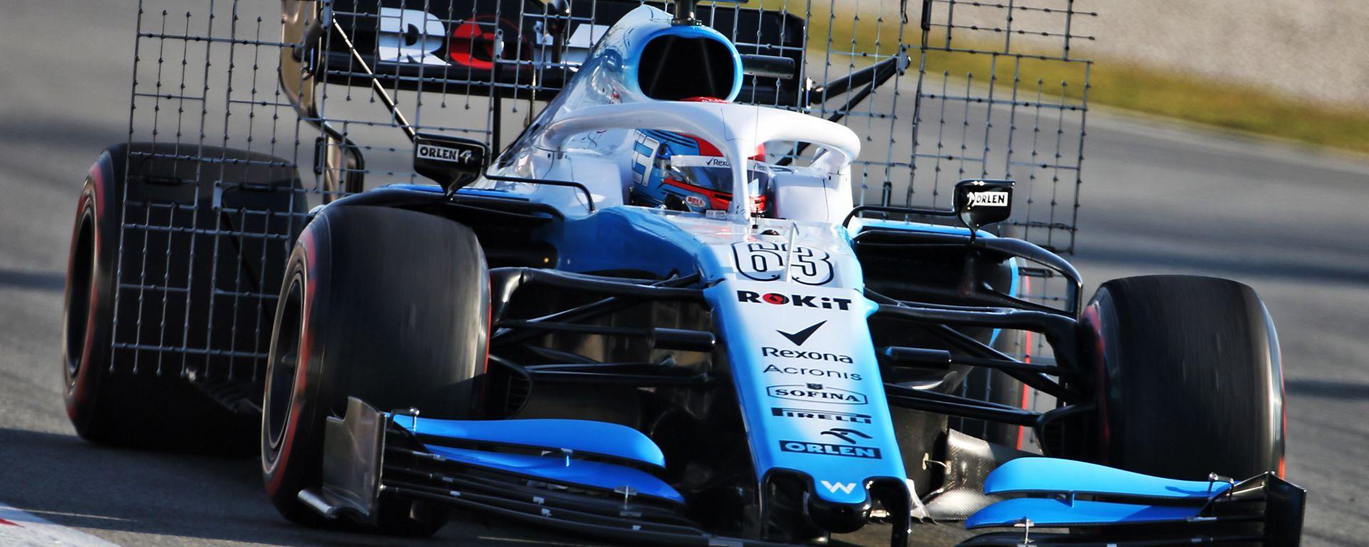 F1 2019: George Russell (Williams) impegnato nei test di Barcellona