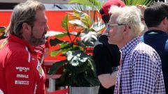 F1 2019, GP Canada: Gino Rosato (Ferrari) e Jacques Villeneuve nel paddock di Montreal