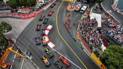 F1 2019, GP Monaco, Monte Carlo: primo passaggio delle auto alla Sainte Devote