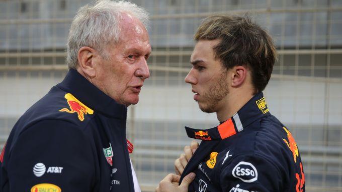 F1 2019: Helmut Marko e Pierre Gasly (Red Bull)