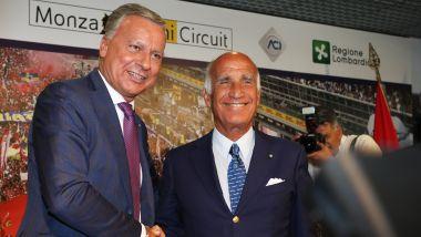 F1 2019, il presidente Aci Angelo Sticchi Damiani e il sindaco di Monza Dario Allevi