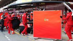 F1 2019: la Ferrari SF90 durante i test invernali di Barcellona