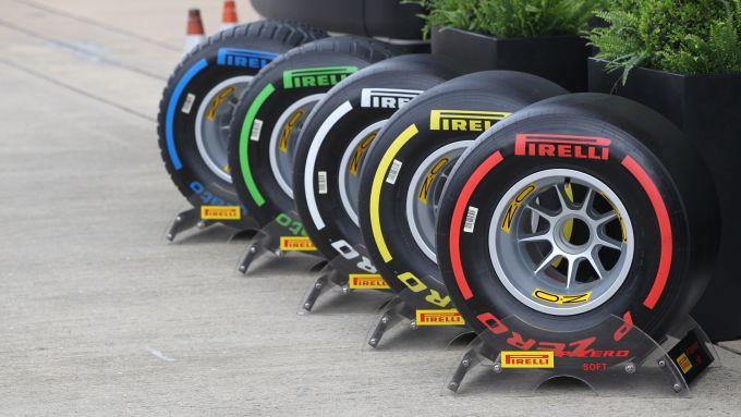 F1 2019, la gamma di pneumatici Pirelli: Soft, Medium, Hard, Intermediate e Full Wet