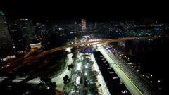 F1 2019, la vista aerea del tracciato di Marina Bay, sede del Gp di Singapore