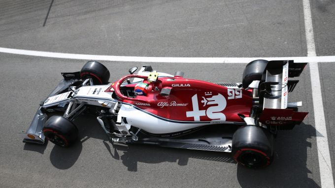 F1 2019, l'Alfa Romeo Racing C38 di Antonio Giovinazzi