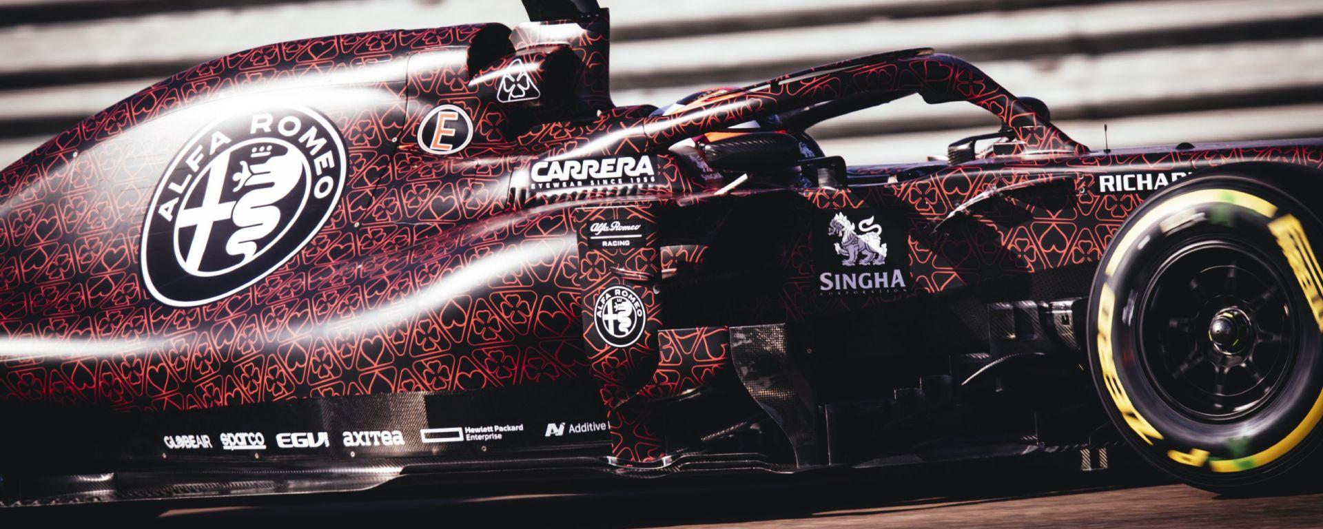 F1 2019, le prime immagini dell''Alfa Romeo Racing