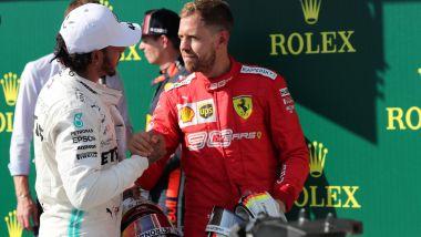F1 2019: Lewis Hamilton (Mercedes) e Sebastian Vettel (Ferrari)