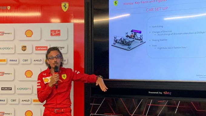 F1 2019, l'ingegnere Laurent Mekies (Ferrari) spiega gli assetti delle monoposto per Monza