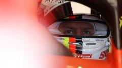 F1 2019, lo sguardo di Sebastian Vettel al volante della SF90