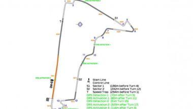 F1 2019: mappa circuito GP Messico, zone DRS