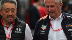 F1 2019, Masashi Yamamoto (Honda) con Helmut Marko (Red Bull)