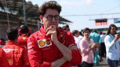 F1 2019, Mattia Binotto pensieroso sulla griglia di partenza del Gp Ungheria