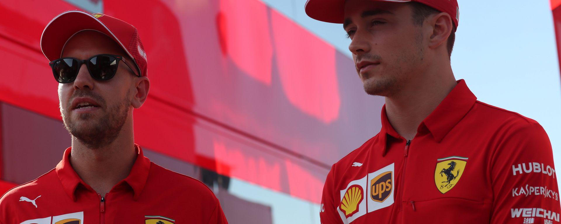 F1 2019, Sebastian Vettel e Charles Leclerc