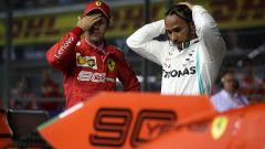 """Vettel ironico: """"Hamilton è già un pilota Ferrari"""""""