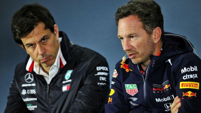 F1 2019: Toto Wolff (Mercedes) e Chris Horner (Red Bull)