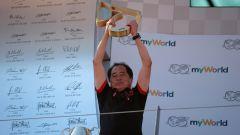F1 2019, Toyoharu Tanabe (Honda) sul podio del Gp Austria