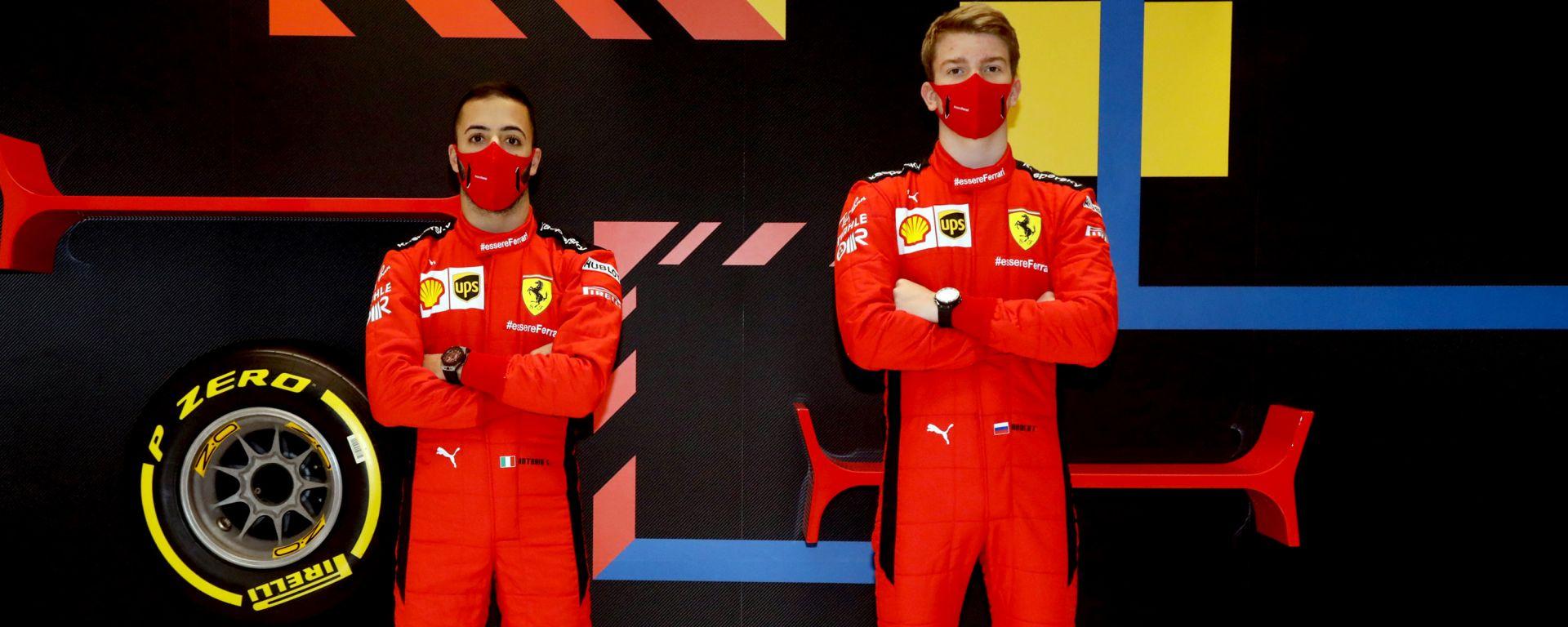 F1 2020: Antonio Fuoco e Robert Shwartzman (Ferrari Driver Academy)