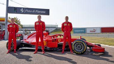 F1 2020: Callum Ilott, Robert Shwartzman e Mick Schumacher (Ferrari Driver Academy) a Fiorano