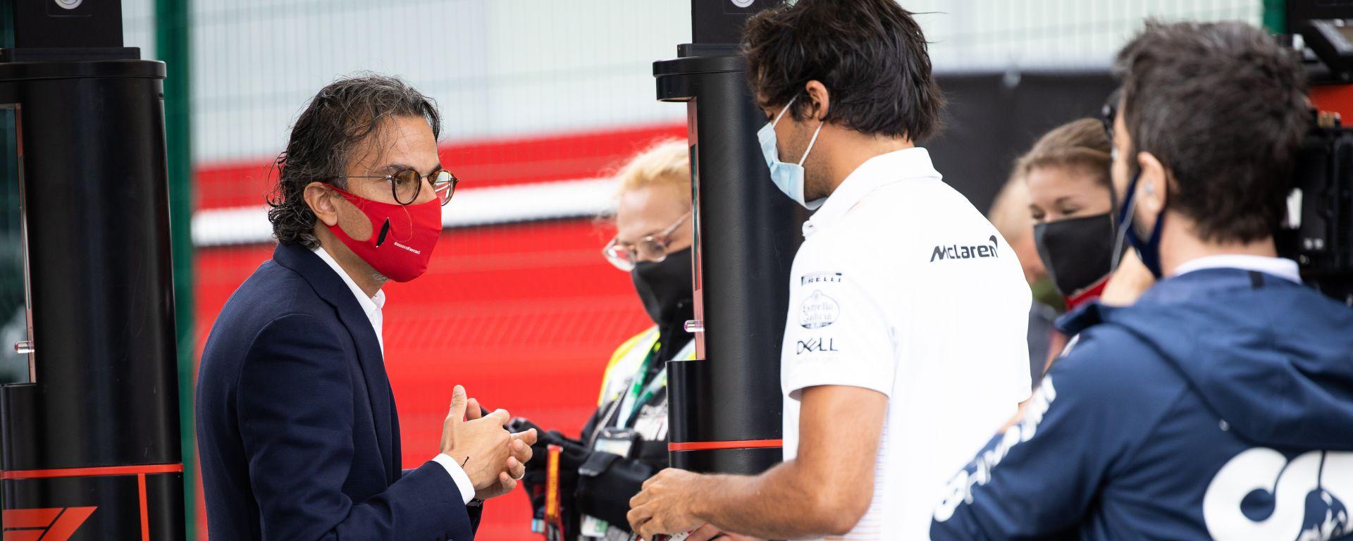 F1 2020: Carlos Sainz (McLaren) e Laurent Mekies (Ferrari)