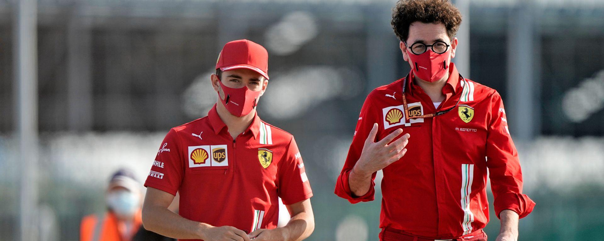 F1 2020: Charles Leclerc e Mattia Binotto (Ferrari)