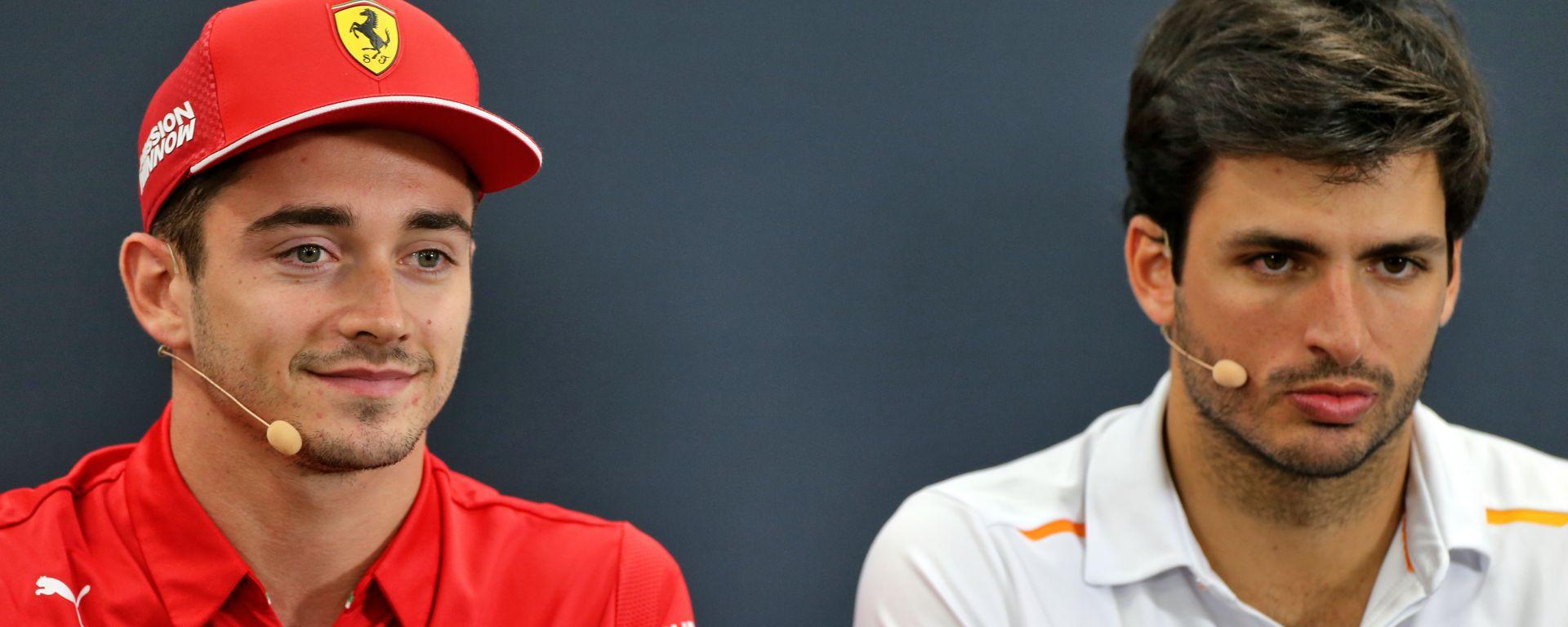 F1 2020: Charles Leclerc (Ferrari) e Carlos Sainz (McLaren)