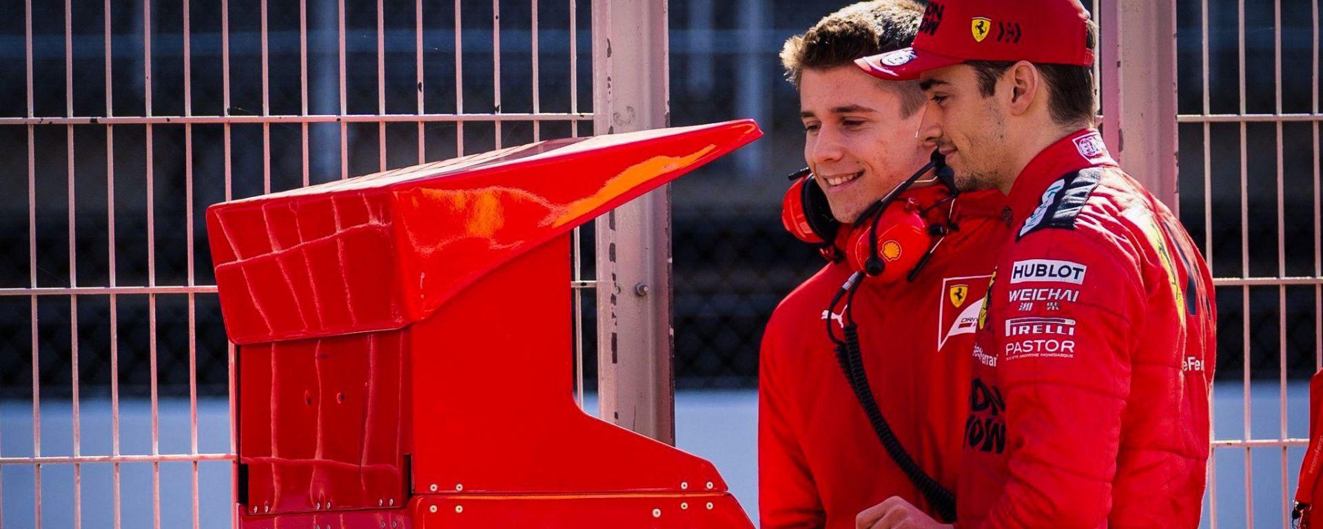 F1 2020: Charles Leclerc (Ferrari) e il fratello Arthur