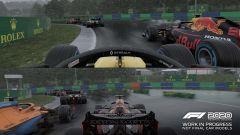 F1 2020: corsa in due sullo stesso televisore, sotto la pioggia