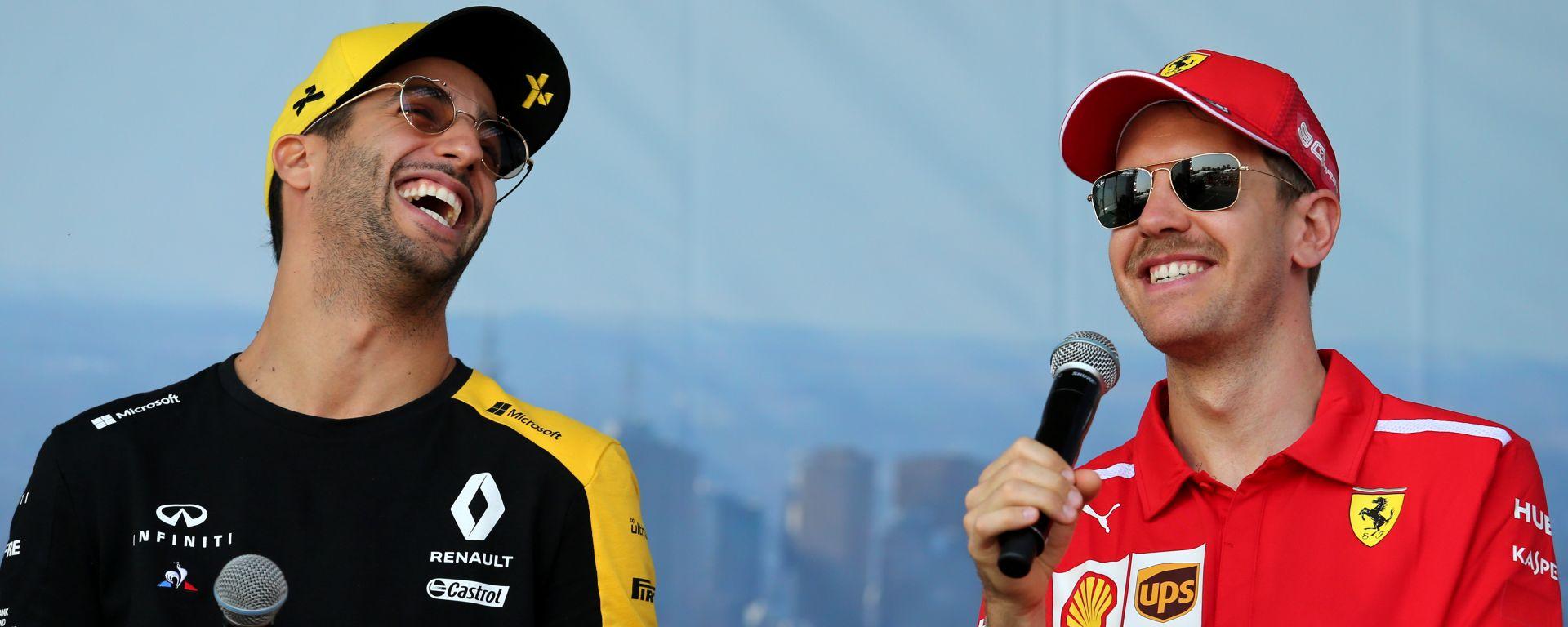 F1 2020: Daniel Ricciardo (Renault) e Sebastian Vettel (Ferrari)