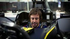 F1 2020, Fernando Alonso fa la prova sedile Renault