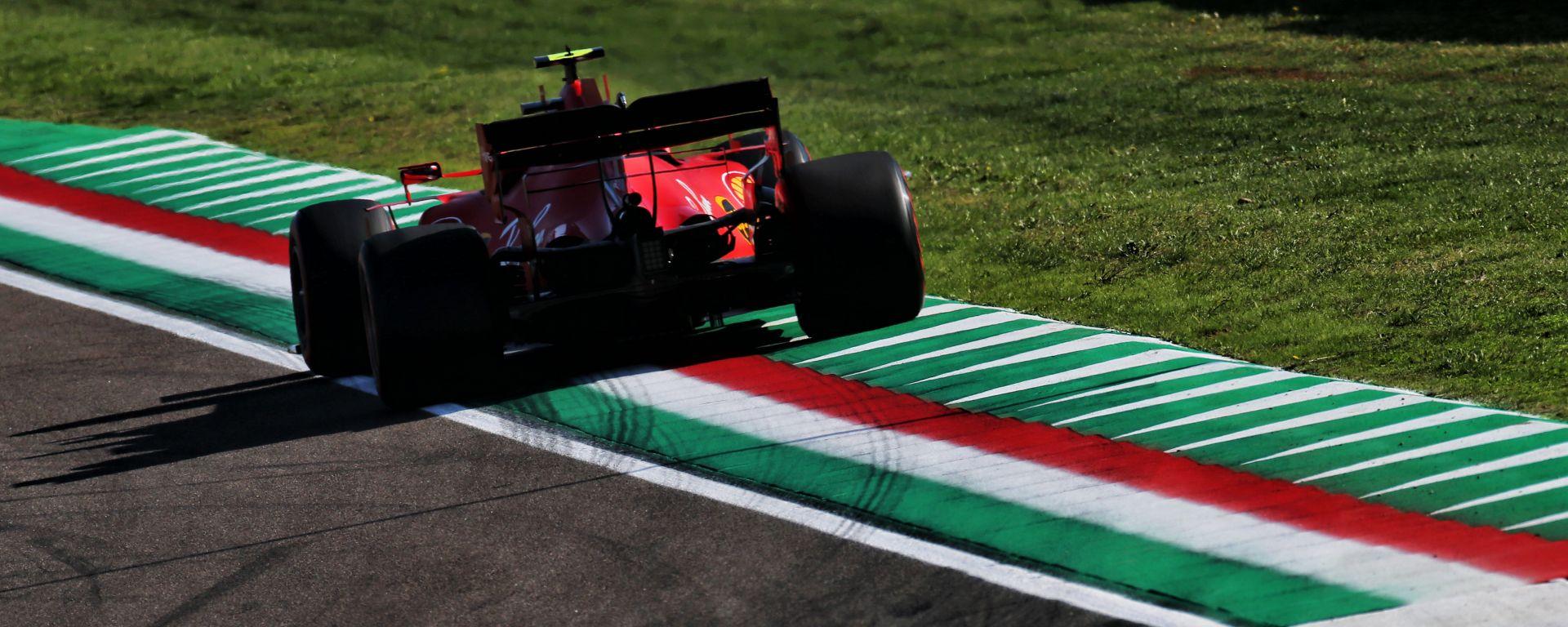 F1 2020, GP Emilia Romagna: Charles Leclerc (Ferrari) oltre i limiti della pista