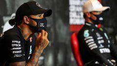 F1 2020, GP Emilia Romagna: Lewis Hamilton e Valtteri Bottas (Mercedes)