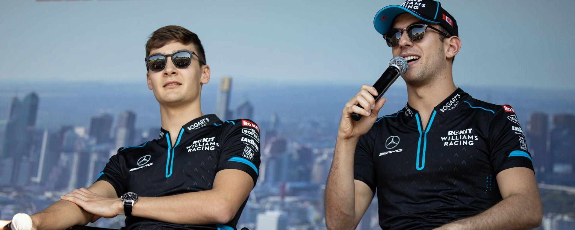 F1 2020: i piloti della Williams, George Russell e Nicholas Latifi