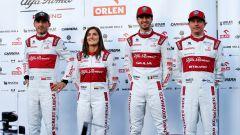F1 2020: i piloti dell'Alfa Romeo, Robert Kubica, Tatiana Calderon, Antonio Giovinazzi e Kimi Raikkonen
